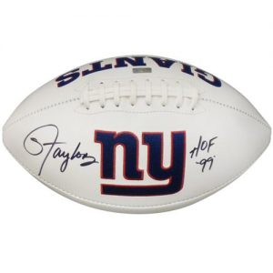 "Lawrence Taylor Autographed New York Giants Logo Football w/ ""HOF 99"""