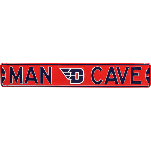 """Dayton Flyers """"MAN CAVE"""" Authentic Street Sign"""