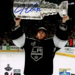 Jonathan Quick Autographed Los Angeles Kings (Stanley Cup Trophy) 8×10 Photo – Quick Holo