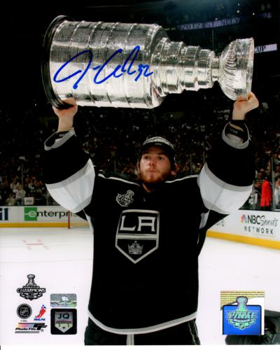Jonathan Quick Autographed Los Angeles Kings (Stanley Cup Trophy) 8x10 Photo - Quick Holo