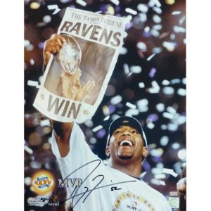 Ray Lewis Autographed Baltimore Ravens (Super Bowl MVP) 16x20 Photo