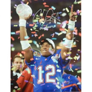 "Chris Leak Autographed Florida Gators (BCS Trophy) 16x20 Photo w/ ""06 Champs"""
