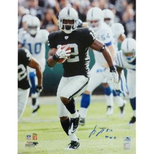 """Jacoby Ford Autographed Oakland Raiders (99yd Kickoff) 16x20 Photo w/ """"99 YD TD"""" (LTD ED 12)"""