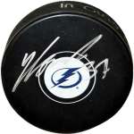 Yanni Gourde Autographed Tampa Bay Lightning Hockey Puck