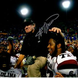 Steve Spurrier Autographed South Carolina Gamecocks (Carried Off Field) 8x10 Photo