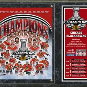 "Chicago Blackhawks 2015 Stanley Cup Champions 15""x12"" Stat Plaque"