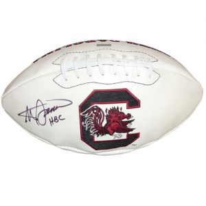 "Steve Spurrier Autographed South Carolina Gamecocks Logo Football w/ ""HBC"""