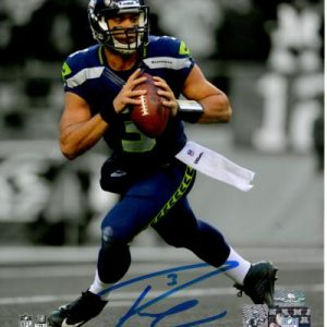 Russell Wilson Autographed Seattle Seahawks (Spotlight) 8x10 Photo - RW Holo