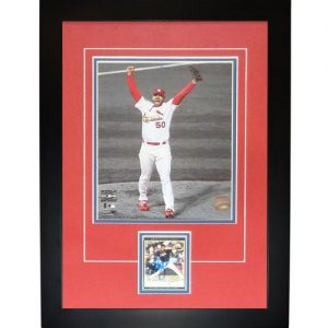 "Adam Wainwright Autographed St. Louis Cardinals ""Signature Series"" Card Frame"