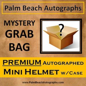 MYSTERY GRAB BOX - Autographed Premium Mini Helmet in Case