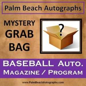 MYSTERY GRAB BAG - Autographed Baseball Magazine / Program