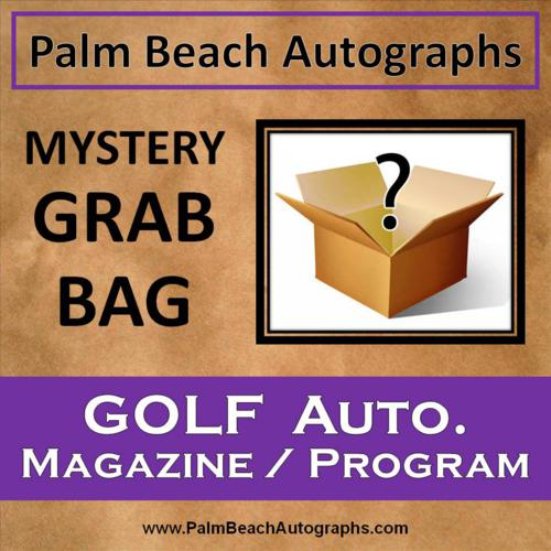 MYSTERY GRAB BAG - Autographed Golf Magazine / Program