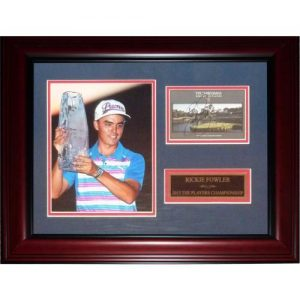 Rickie Fowler Autographed 2015 The Players Championship Scorecard Framed Piece - JSA