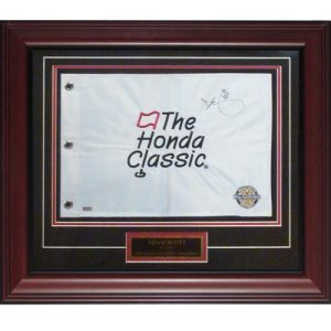 Adam Scott Autographed Honda Classic Deluxe Framed Golf Pin Flag