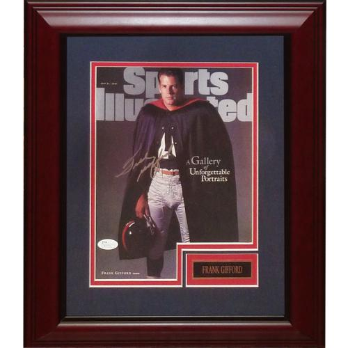 Frank Gifford Autographed New York Giants Deluxe Framed Sports Illustrated Magazine - JSA
