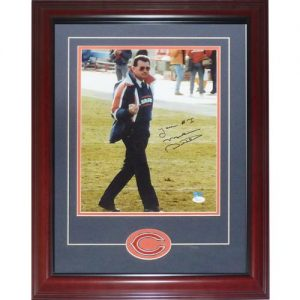 "Mike Ditka Autographed Chicago Bears (Middle Finger) Deluxe Framed 11x14 Photo w/ ""Your #1"" and Patch - JSA"