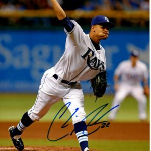 Chris Archer Autographed Tampa Bay Rays (White Jersey) 8x10 Photo