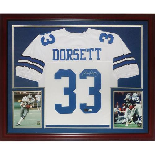 brand new 7abcc 6f9a7 Tony Dorsett Autographed Dallas Cowboys (White #33) Deluxe Framed Jersey -  JSA