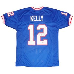 Jim Kelly Autographed Buffalo Bills (Blue #12) Jersey - Kelly Holo