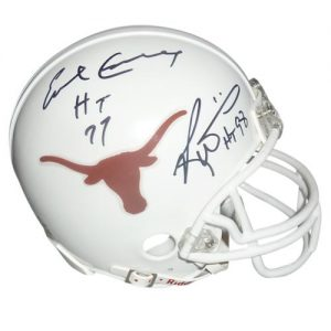 "Earl Campbell And Ricky Williams Autographed Texas Longhorns Mini Helmet w/""HT 77"" , ""HT 98"""
