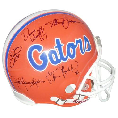 "Florida Gators ""Ring of Honor"" Autographed Proline Helmet – Wilber Marshall , Emmitt Smith , Steve Spurrier , Danny Wuerffel , Jack Youngblood"