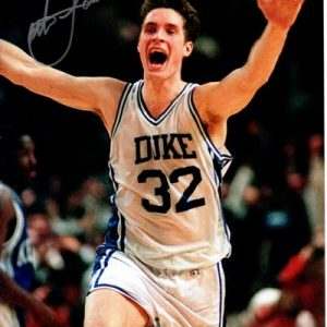 Christian Laettner Autographed Duke Blue Devils (The Shot Celebration) 8x10 Photo