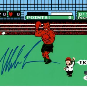 Mike Tyson Autographed Boxing (Nintendo Punchout) 8x10 Photo - JSA
