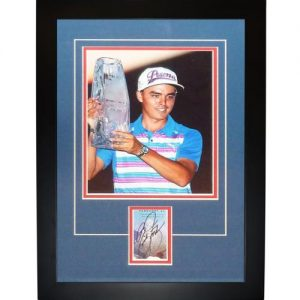 "Rickie Fowler Autographed Golf (TPC Trophy) ""Signature Series"" Frame"