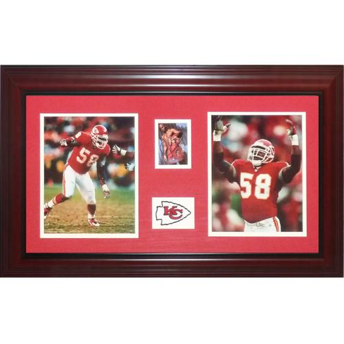 896315dc8a6 Derrick Thomas Autographed Kansas City Chiefs Deluxe Framed Tribute Card  Piece – JSA