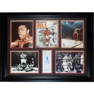 Muhammad Ali Autographed Islam Pamphlet Deluxe Framed Photo Collage - JSA