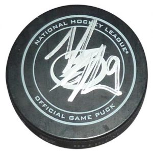 Tyler Johnson Autographed Tampa Bay Lightning Hockey Puck - Fanatics