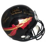 "Charlie Ward , Chris Weinke , Jameis Winston Autographed FSU Florida State Seminoles (Black) Deluxe Full-Size Replica Helmet w/ ""Heisman"" Inscrs"