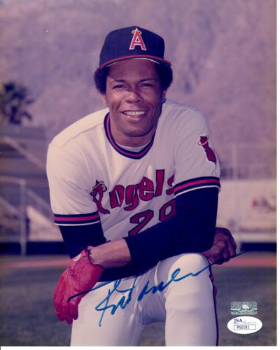 Rod Carew Autographed California Angels 8x10 Photo - JSA