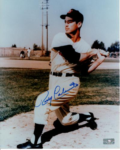 Rocky Colavito Autographed Cleveland Indians 8x10 Photo