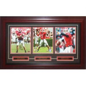 David Greene , Matt Stafford And Aaron Murray Autographed Georgia Bulldogs Deluxe Framed Triple 8x10 Piece