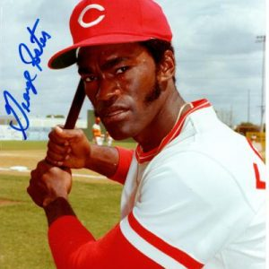 George Foster Autographed Cincinnati Reds (Batting) 8x10 Photo