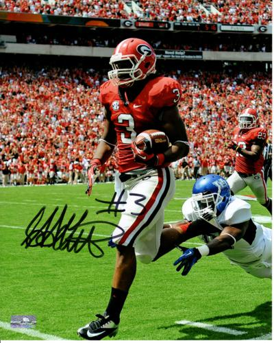 Todd Gurley Autographed Georgia Bulldogs (Action) 8x10 Photo