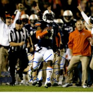 "Chris Davis Autographed Auburn Tigers (Spotlight) 8x10 Photo w/ ""Kick 6"" - Radtke"