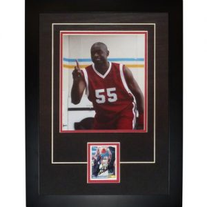 "Dikembe Mutombo Autographed Atlanta Hawks - Geico Commercial ""No No No"" ""Signature Series Frame"