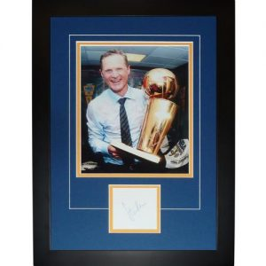 "Steve Kerr Autographed Golden State Warriors (NBA Finals Celebration) ""Signature Series"" Frame"