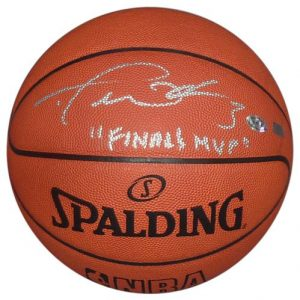 """Dwyane Wade Autographed NBA Official Game Basketball (Miami Heat) w/ """"Finals MVP"""" - Wade Holo"""