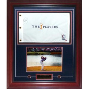 Rickie Fowler Autographed 2015 The Players Championship Flag Deluxe Framed Piece - JSA