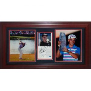 Rickie Fowler Autographed The Players Championship Deluxe Framed Tribute Piece