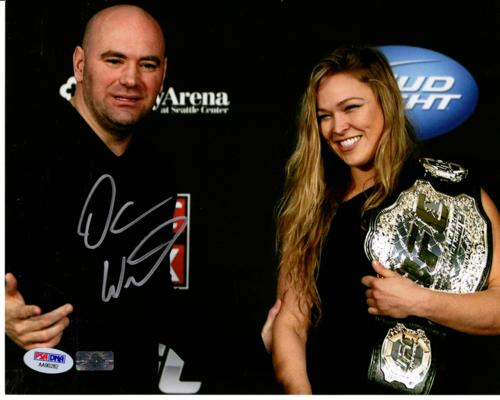 Dana White Autographed UCF Fighting (with Ronda Rousey) 8x10 Photo - PSADNA