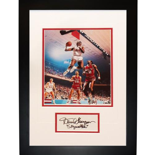 "David Thompson Autographed NC State ""Signature Series"" Frame"