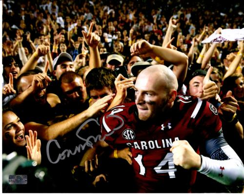 Connor Shaw Autographed South Carolina Gamecocks (Celebrating) 8x10 Photo