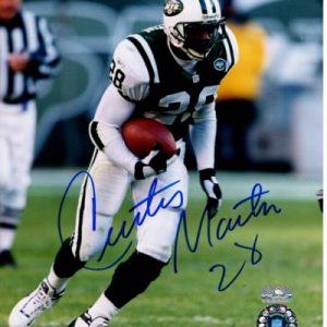 Curtis Martin Autographed New York Jets 8x10 Photo