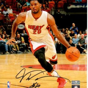 Justise Winslow Autographed Miami Heat 8x10 Photo