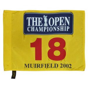 2002 British Open (Muirfield) Golf Pin Flag - Ernie Els Champion