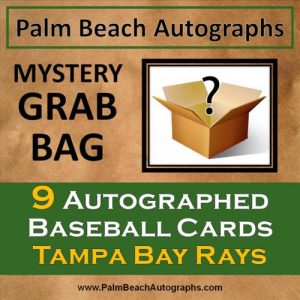 MYSTERY GRAB BAG - 9 Autographed Baseball Cards - Tampa Bay Rays
